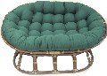 Double Papasan Cushion with Solid Fabric