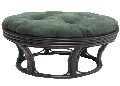 Papasan Footstool with Micro Suede Cushion