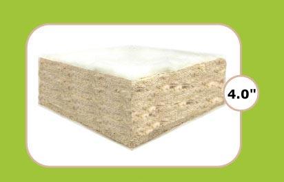 """Natural Cotton 4"""" Futon"""