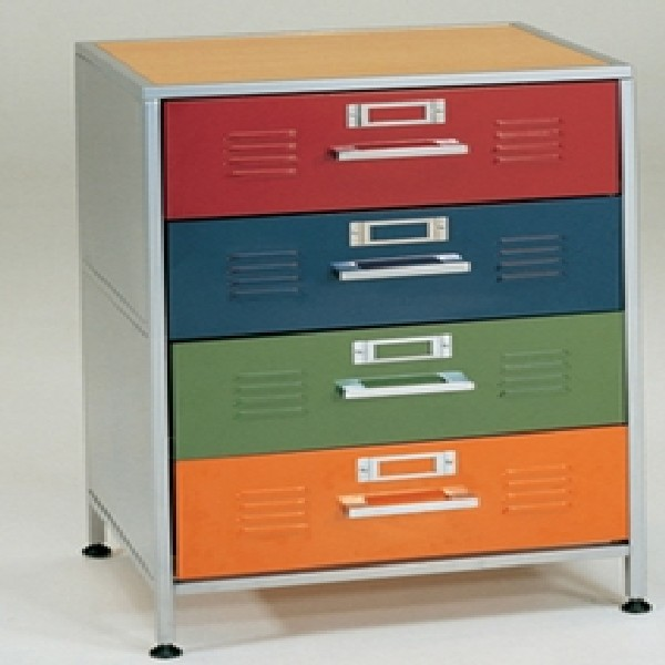 Locker 4 Drawer Dresser