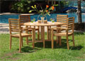 5 Piece Teak Table Set