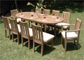 Oval Double Extension Table 84