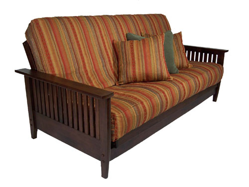 denali dark cherry denali futon frame by strata furniture  rh   futons