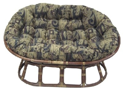 "46"" Double Papasan Cushion in Jaquard Chenille Fabric"