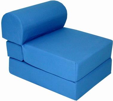 Royal Blue Kids Sleeper Chair