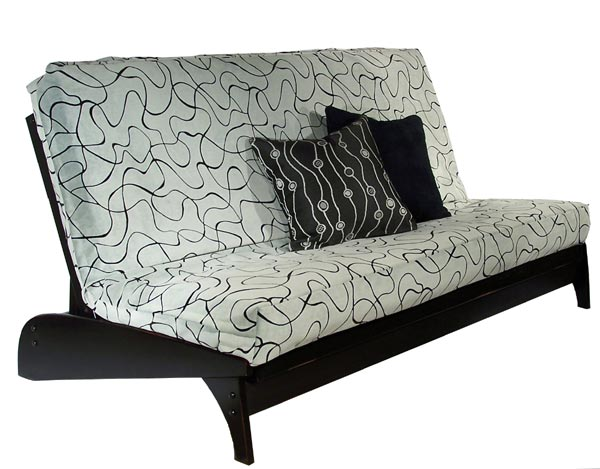 Warm Cherry Dillon Futon Frame Black