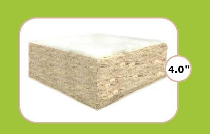 "Natural Cotton 4"" Futon"