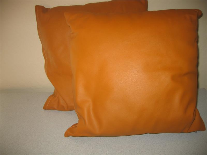 Leather Looking Pillows