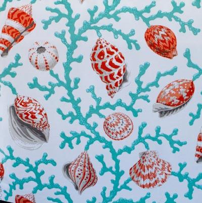 Tangerine Shells Futon Cover