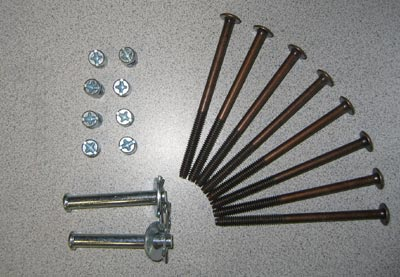 "1/2"" Head Futon Hardware Set"
