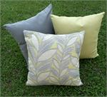 Charcoal Lime Twist Pillow Set